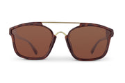 Tortoise Brown Polarized Bomboras Amber Lens