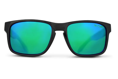 Black Polarized Mavericks - Green Lens
