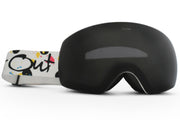 White Expose Goggles - Black Lens