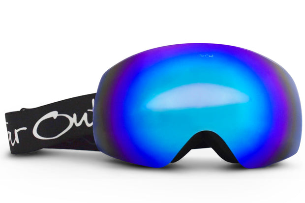 Black Expose Goggles - Blue Lens