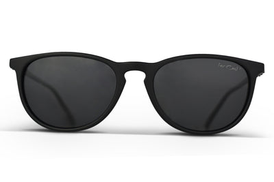 Black Polarized Rounders Black Lens