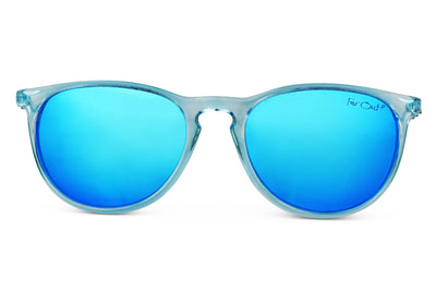 Aqua Polarized Rounders Light Blue Lens