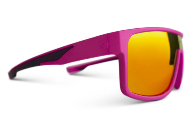 Hot Pink Polarized Retros Red Lens