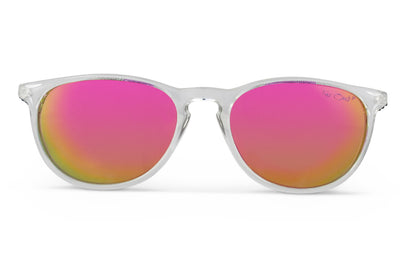 Clear Polarized Rounders Pink Lens