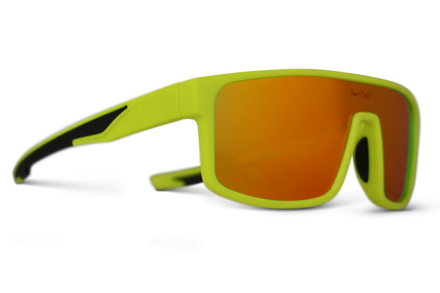 Neon Yellow Polarized Retros Orange Lens