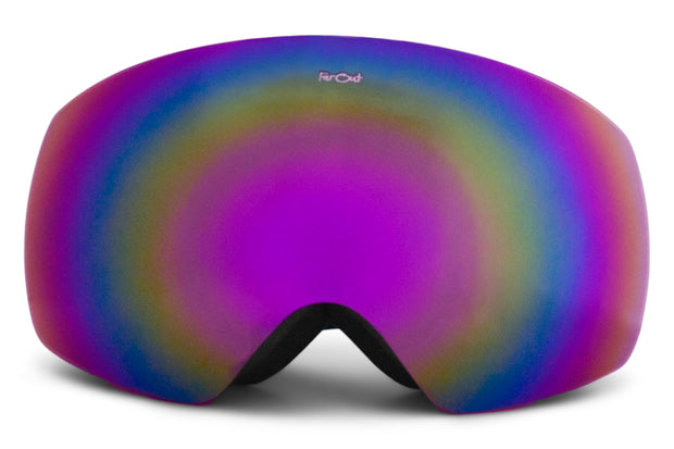 White Expose Goggles - Purple Lens