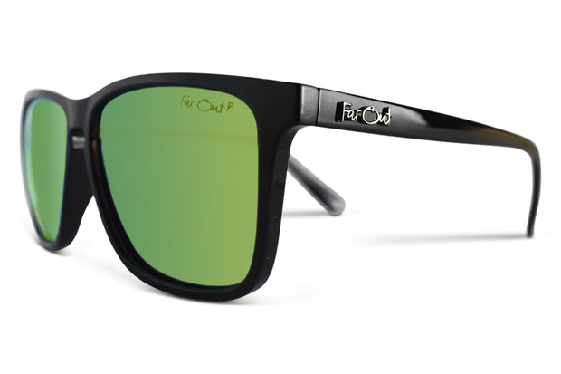 Black Polarized Flatliners Yellow Lens