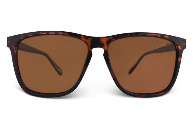 Tortoise Brown Polarized Flatliners Amber Lens