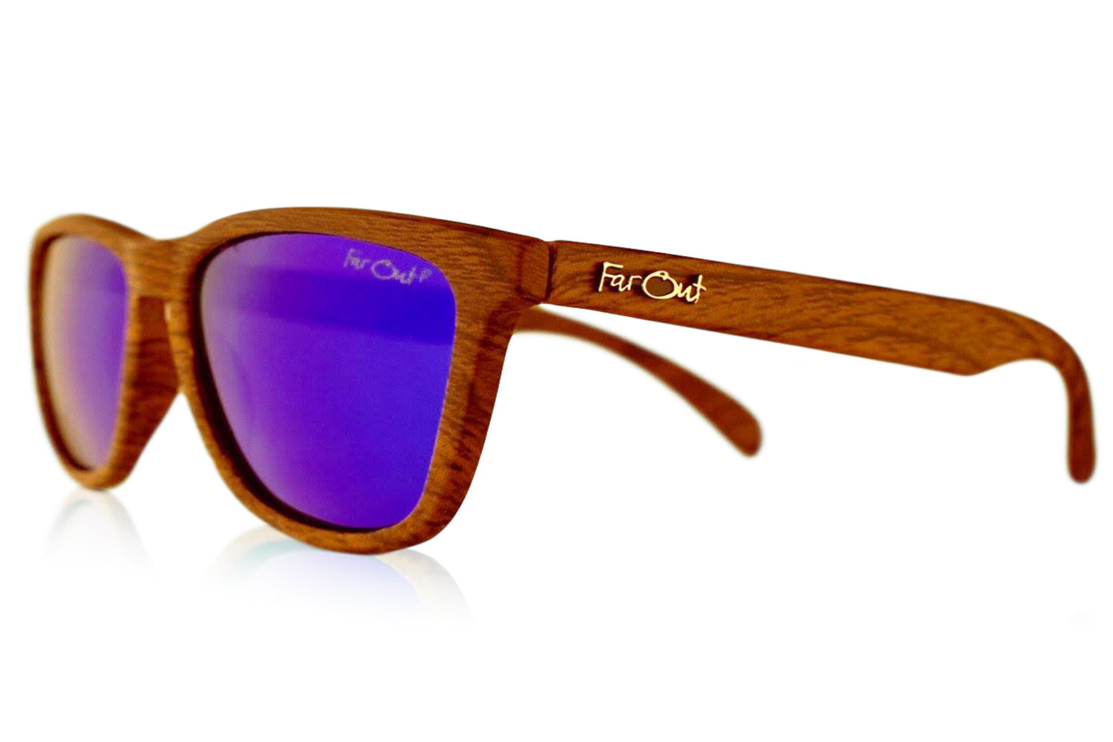 ee6fe0563b Wood Grain Sunglasses Blue Lens - Far Out Sunglasses