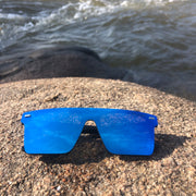 Black Polarized Stunners Blue Lens