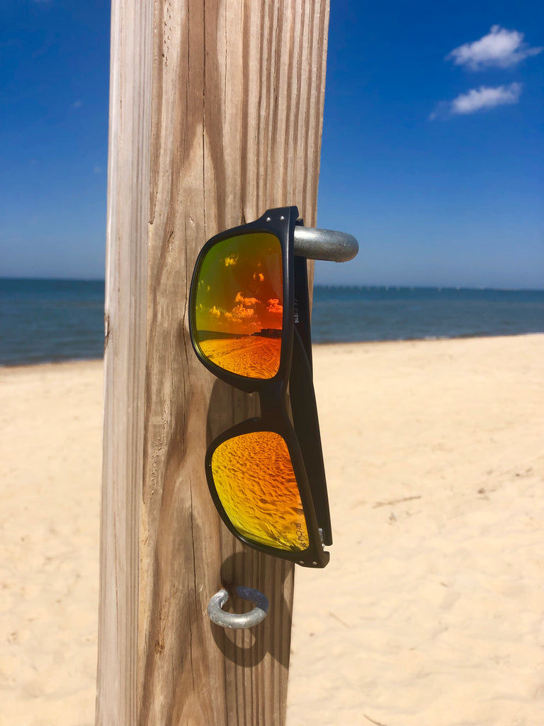 Black Polarized SS Mavericks - Orange Lens