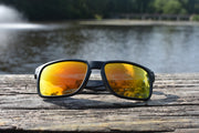 Black Polarized Mavericks - Orange Lens
