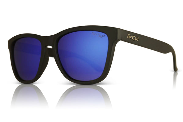 Black Polarized Premiums Dark Blue Lens