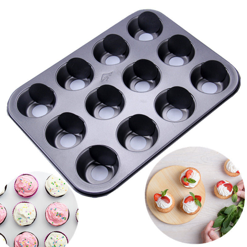 12 Cup Non-Stick Mini Cheesecake Pan with Removable Bottom NonStick Mini Cake Pan Cupcake Pan Muffin Mould Dessert Tool Bakeware
