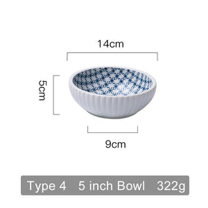 Japanese Traditional Ceramic Plates  Bowls  Creative Dishes Plates
