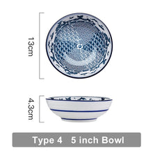 Load image into Gallery viewer, Japanese Traditional Ceramic Plates  Bowls  Creative Dishes Plates