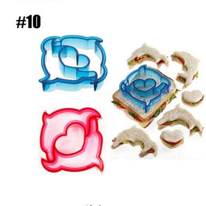 10  Shapes  DIY Sandwich Bread Crust Cutter Moulds