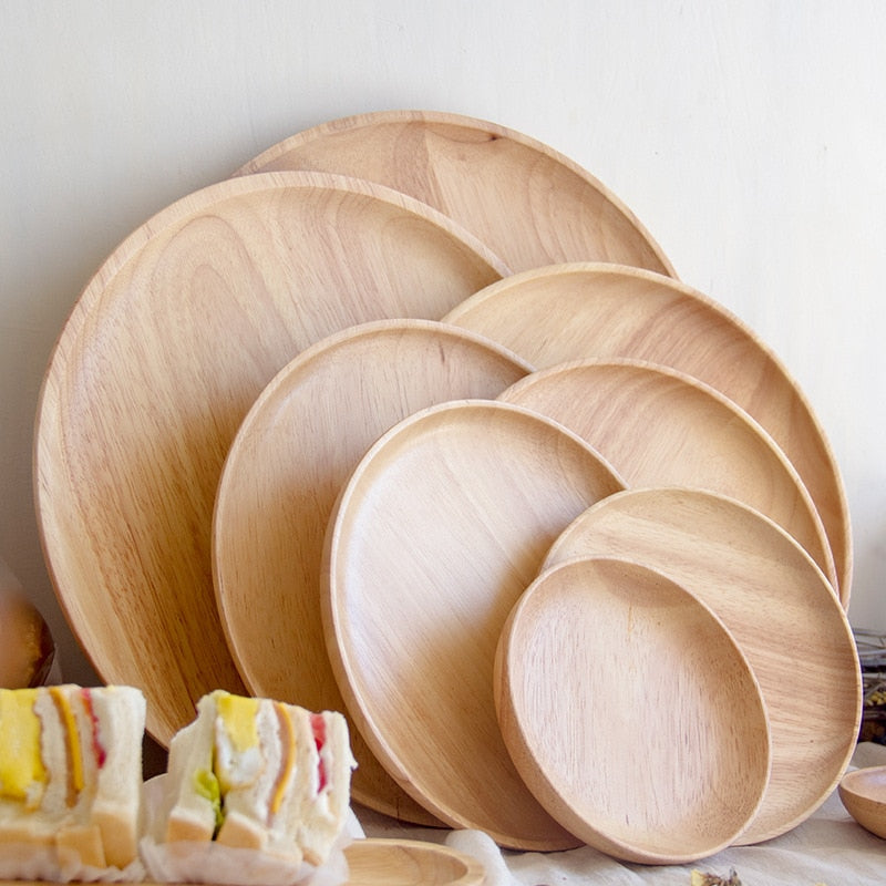 Rubber Wood Pan Plates  Bread Wood Plate