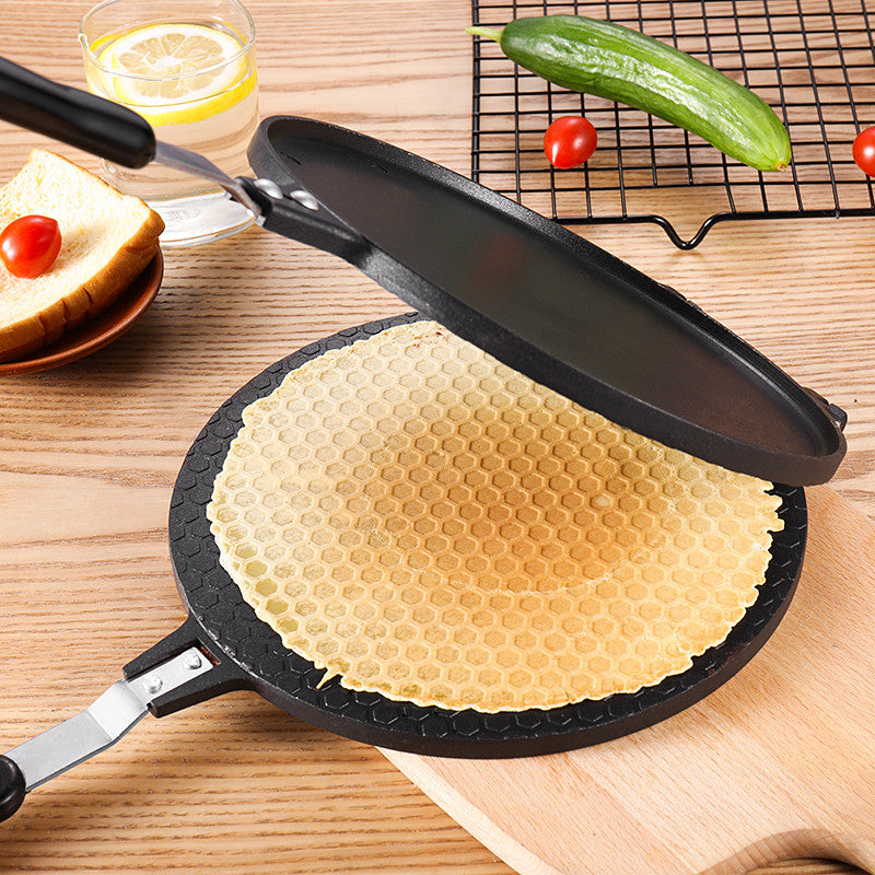 17CM/22CM Round Crispy Egg Omelet Mold Ice Cream Cone Maker Aluminum Alloy Baking Pan Tray For Waffle Cake Bakeware Baking Tools