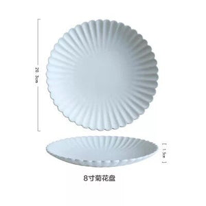 Pure white accent plate & dinner plate set