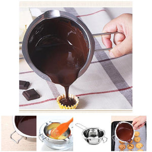 Hot Stainless Steel Chocolate Cheese Melting Pot Pan Bowl DIY Accessories Tool LSK99