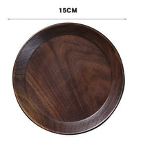 Load image into Gallery viewer, Black Walnut Wooden Dishes Tea Tray Pan Plate Dessert Dinner Wood Plates