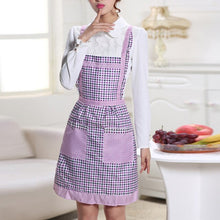 Load image into Gallery viewer, Waterproof Cooking Apron Printing Princess Apron Dress Thicken Women Cotton Bib with Pockets Ladies Pinafore House Supplies
