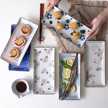 Load image into Gallery viewer, Japanese Sushi  Ceramic Dinner  Flower Fruit Dinnerware