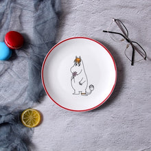 Load image into Gallery viewer, Moomin Platos De Madera  Ceramica Plate   Kid Plate