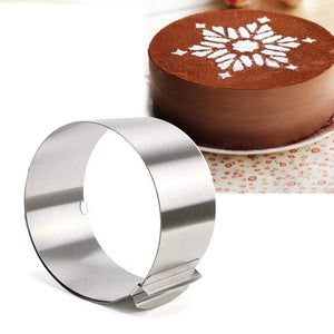 Adjustable Stainless Steel Circle Mousse Ring, 6-12inch,Baking Tool for Birthday Cake, Party