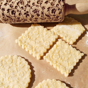Embossing Rolling Pin Baking Cookies