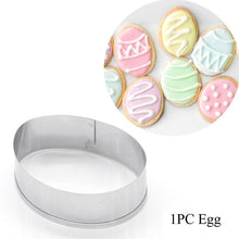Load image into Gallery viewer, 1/5/8PCS Food Grade Plastic White Cookies Cutter Baking Mould Christmas Biscuit Mold Pastry Cake Decor Accessory Fondant Tool