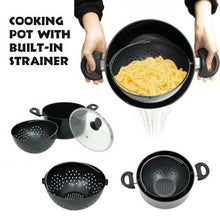 Load image into Gallery viewer, World's Greatest Pot Cooking Pan With Strainer Water Filter Non-stick Pot Drain Basket Stainless Steel Pot Kitchen Tool Cookware