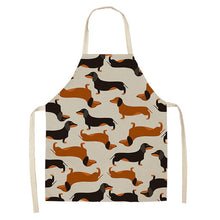 Load image into Gallery viewer, 1 Pcs Cotton Linen BullDog Dog Print Kitchen Aprons Unisex Dinner Party Cooking Bib Funny Pinafore Cleaning Apron
