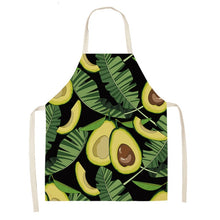 Load image into Gallery viewer, 1PCS  Cotton Linen Apron Avocado Printed Kitchen Women Baking Waist Bib Home Cooking Brief Sleeveless Pinafore 53*65cm WQL0145