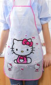 1PC New Cartoon Cute Fruit Waterproof Cooking Resturant Kitchen Women PVC Apron Kids Funny ND 009