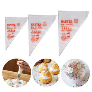 100/200/300pcs Disposable Pastry Bag Icing Piping Cake Pastry Cupcake Decor Bags Fondant Cakes Cream Nozzles Pastry Baking Tools