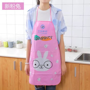 Kitchen Apron Rabbit Printing Kids Aprons BBQ Bib Apron For Women Cooking Baking Restaurant Apron Home Cleaning Tools 50*70cm
