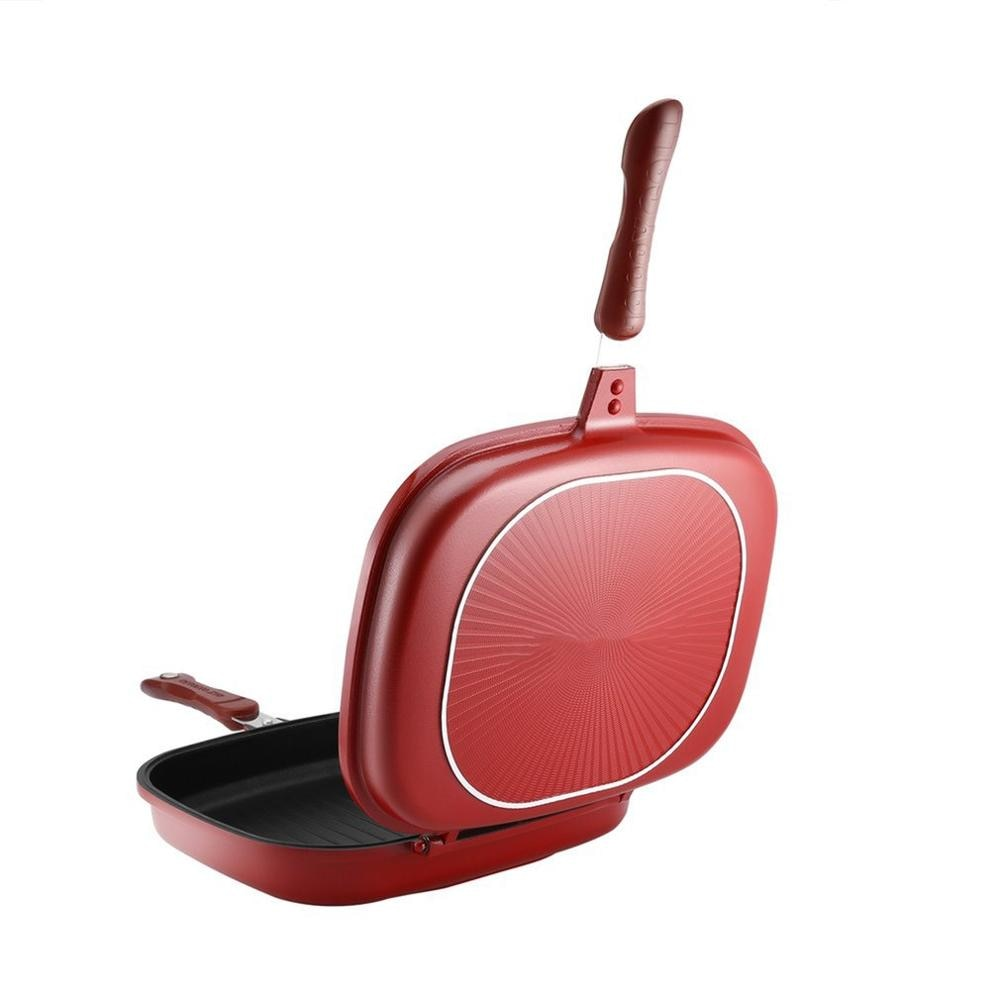 Double-Sided Frying Pan Non-Stick Barbecue Cooking Tool