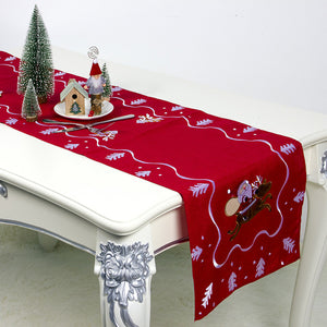 Christmas Table Runner Linen Table Flag Tablecloths Party Decoration Creative Table Runner Table Decoration Holiday Table Decor