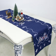Load image into Gallery viewer, Christmas Table Runner Linen Table Flag Tablecloths Party Decoration Creative Table Runner Table Decoration Holiday Table Decor