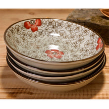 Load image into Gallery viewer, 10PCS/Set 7 Inch Japanese-style Ceramic Dish Plate Underglaze Tableware Hotel Creative Vegetable Steak Cake Dessert Dinner Plate