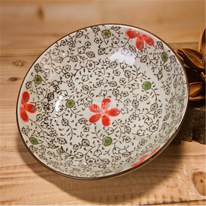 10PCS/Set 7 Inch Japanese-style Ceramic Dish Plate Underglaze Tableware Hotel Creative Vegetable Steak Cake Dessert Dinner Plate