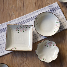 Load image into Gallery viewer, Japanese Ceramic Plate Floral Glaze Elegant Porcelain  Plates