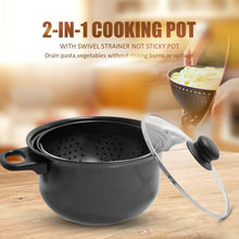 Load image into Gallery viewer, 2-in-1 Cooking Pot With Swivel Strainer Food Pasta Vegetables Drains Out Pot  Seafood Potatoes Steam Pot Kitchen Cooking Tool