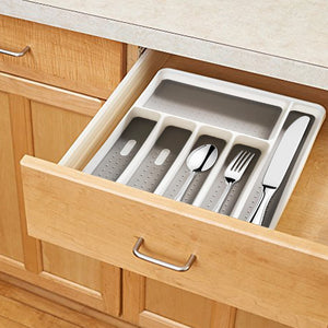 6 Compartments Kitchen Cutlery Tray Drawer Organizer Spoon Knife Kitchen Separation Fork Plastic Storage Box Tableware Tray