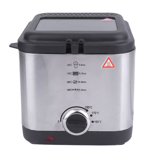 1.5L Electric Deep Fat Fryer Non Stick 900W Stainless Steel Fryer Pot Kitchen Cookware Smokeless Deep Fryer Pan