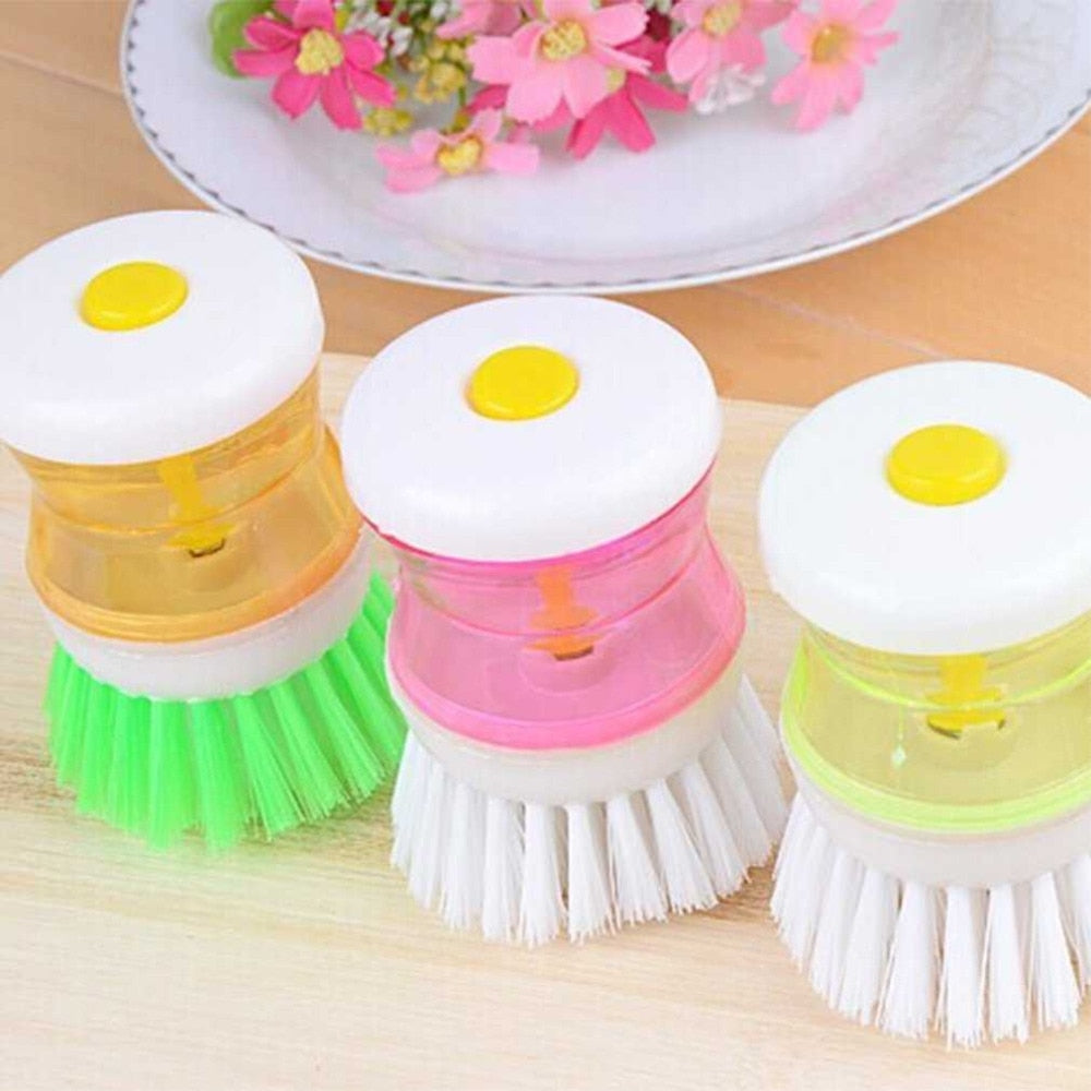 Random Color Loverly Kitchen Brush Washing Tool Pot Pan Dish Bowl Brush Scrubber Cleaning Cleaner Kitchen Helper Drop Shipping