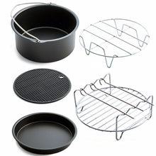 Load image into Gallery viewer, New Home Air Frying Pan Accessories Five Piece Fryer Baking Basket Pizza Plate Pot Mat Multi-functional Kitchen dropshipping