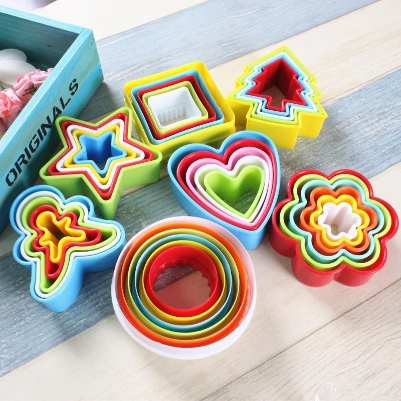 1set DIY Mold Cake Cookie Cutters Bread Biscuit Sugar Craft Mold Patisserie Heart Shaped Decorating Tools Kitchen Accessories